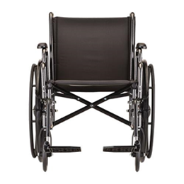 "Image of 20"" Steel Wheelchair with Detachable Desk Arms and Footrests 5"