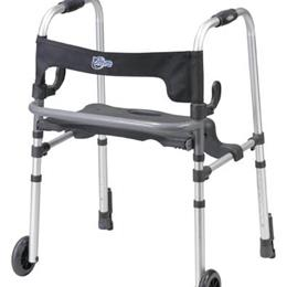 Drive Medical :: Clever-Lite Walker w/Seat & Push-Down Brakes