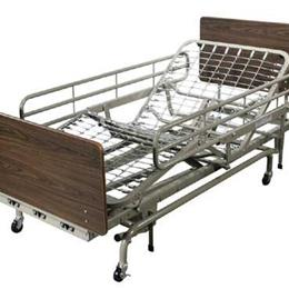Image of Fold Down Full Length Bedrails for Full Electric LTC Bed