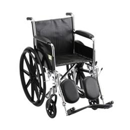 "Nova Medical Products :: 18"" STEEL WHEELCHAIR FIXED ARMS AND ELEVATING LEG RESTS - 5080SE"