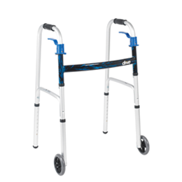 "Drive :: Deluxe Trigger Release Folding Walker with 5"" Wheels"