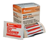 Cut Cleaners (Antiseptic Wipes) - This triple action antispetic wipe gently cleans away dirt an