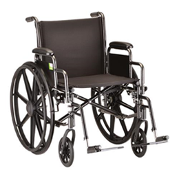 "Image of 20"" Steel Wheelchair with Detachable Desk Arms and Footrests 2"