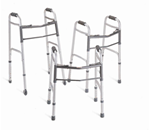 "Walkers / Rollators :: Medline :: Two-Button Folding Walkers with 5"" Wheels"