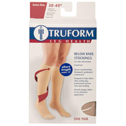 "Image of 8845S TRUFORM Classic Compression Ladies' Below Knee, Closed Toe, Short (15""), Stocking 5"