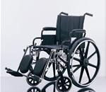 "WHEELCHAIR 18"" FLA ELR - Excel K4 Wheelchair. Seat 18""W X 16""D; Black, Nylon Upholstery,"