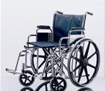 "WHEELCHAIR 22"" FLA S/A FOOT - Excel Extra Wide Wheelchair. Seat 22""W X 18""D; Navy, Vinyl Uphol"
