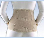 "FLA Soft Form Lumbar Sacral Support, 11"" with Contoured Stays - Stabilizes the lumbar sacral region to alleviate lower back pain"