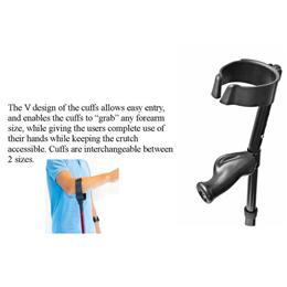 Image of In Motion Forearm Crutch 3