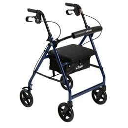 Drive Medical :: Aluminum Rollator with Fold Up and Removable Back Support and Padded Seat