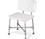 Bariatric Shower Chair - Frame is reinforced to support weights up to 500lbs. Extra wide
