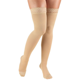 Airway Surgical :: 8867 TRUFORM Classic Compression Ladies' Thigh High, Closed Toe, Stay-Up Lace Top, Stocking