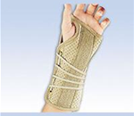"FLA Soft Fit Wrist Brace - Stabilizes the wrist in the neutral ""cock-up"" position. Palmar s"