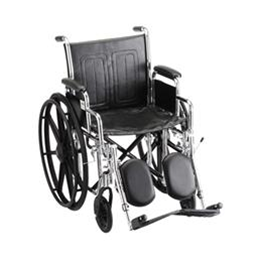 "Image of 18"" STEEL WHEELCHAIR W/ DETACHABLE DESK ARMS & ELEVATING LEG RESTS - 5185SE 2"