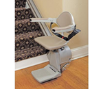 Elan Straight Rail Stairlift Model SRE-3000 - A home stairlift with features usually associated with top-of