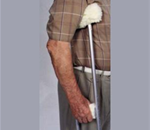 Crutch Cover Set - Thick, plush Sheepette material provides superior user comfort.