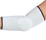 "OTC Elbow Support - White elastic with attractive navy trim for a ""sporty"" appearanc"