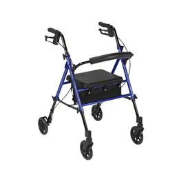 "Drive Medical :: Adjustable Height Rollator with 6"" Wheels"
