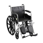 "Wheelchair / Manual :: Nova Medical Products :: 18"" STEEL WHEELCHAIR FIXED ARMS AND ELEVATING LEG RESTS - 5080SE"
