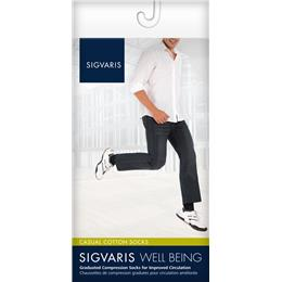 Image of SIGVARIS Casual Cotton 15-20mmHg - Size: A - Color: WHITE
