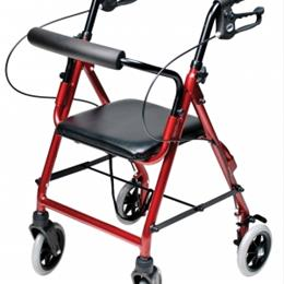 Image of Lumex Walkabout Lite Junior Rollator, Burgundy 2