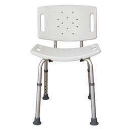 Essential Medical Supply :: Shower Bench w/ Back Adjustable