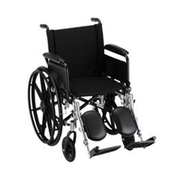 "Image of 18"" LIGHTWEIGHT WHEELCHAIR W/ DETACHABLE ARMS AND ELEVATING LEG RESTS - 7180LE 2"