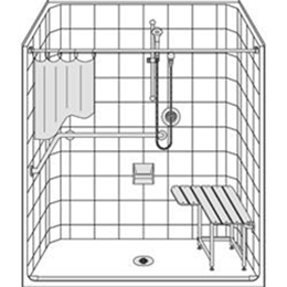 Image of Barrier Free Shower LES6333A75T