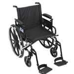 "22"" WHEEL CHAIR, Aluminum Viper Plus GT - Deluxe High Strength, Lightweight, Dual Axle - 