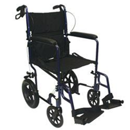 "Roscoe Medical :: Roscoe Medical Aluminum Transport Chair with 12"" Rear Wheels"