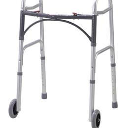 Drive Medical :: Walker Folding 2-Button Youth W/5  Wheels Deluxe (Drive)