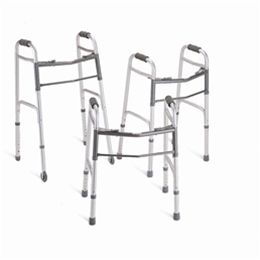 "Medline :: Two-Button Folding Walkers with 5"" Wheels"