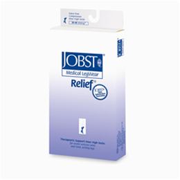 Image of Jobst Relief 30-40 mmHg Knee High Support Stockings (Open Toe) 2