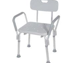 Bath Bench with Padded Arms and Back :: 