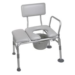 Drive :: Padded Seat Transfer Bench With Commode Opening