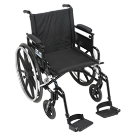"Image of 22"" WHEEL CHAIR, Aluminum Viper Plus GT - Deluxe High Strength, Lightweight, Dual Axle 2"