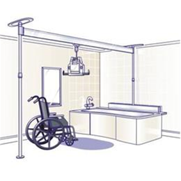 Various :: 2-Post Pressure Mount Bath System With Ceiling Lift (Rental)