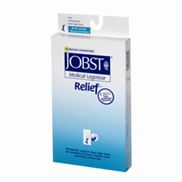 Image of Jobst Relief 20-30 mmHg Knee High Support Stockings (Closed Toe) with Silicone Dot Band 2