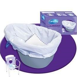 Image of Carebag Commode Liner with Super Absorbent Pad 1