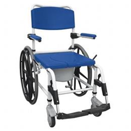 Image of Aluminum Shower Commode Mobile Chair 1