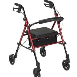 "Drive :: Adjustable Height Rollator With 6"" Wheels"
