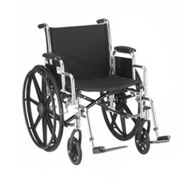 "Nova Medical Products :: 18"" STEEL WHEELCHAIR WITH DETACHABLE ARMS AND FOOTRESTS - 5180S"