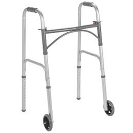"Drive :: Folding Walker with 5"" wheels Adult"