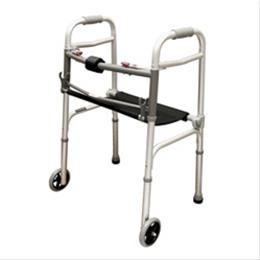 Roscoe Medical :: Walker w/Seat Adult  2-Button & 5  Wheels  Roscoe