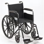 Wheelchairs :: Drive :: Silver Sport 1 Wheelchair With Full Arms And Swing Away Removable Footrest