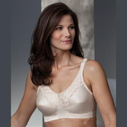 Isabel - 290 - Delicate scalloped embroidery accents nylon tricot cup fabric, L
