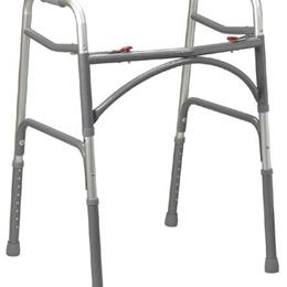 Drive Medical :: Double-Button Ex-Wide Junior Folding Walker (Bariatric)