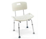CareGuard™ Tool-less Shower Chair with Back - 