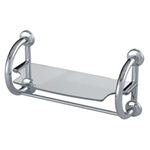 2-in-1 Grab Bar and Towel Shelf, Chrome
