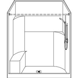 Image of Barrier Free Shower LSSS6034CPCG